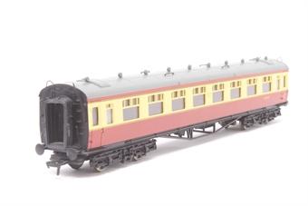 34-056-PO04 Collett 60ft 2nd coach W7031W in BR crimson/cream - Pre-owned - Like new - Imperfect box