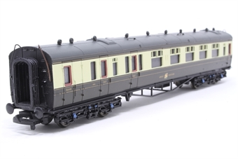 34-075B-PO03 60ft. Collett 1st & 3rd Class Brake Composite Coach 1656 in Great Western 'Hawksworth' Chocolate & Cream Livery - Pre-owned - Like new, imperfect box £22