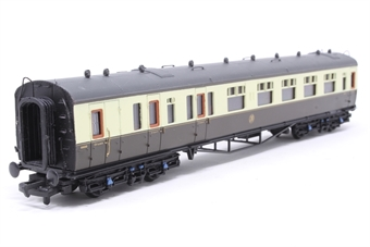 34-076-PO11 Collett 60ft 1st/3rd brakend coach 6543 in GWR chocolate/cream - Pre-owned -  imperfect box