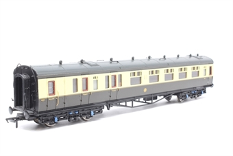 34-077-PO03 Collett 60ft1st/3rd composite brake coach 6609 in GWR chocolate/cream with roundel. - Pre-owned - minor chipped paint on roof, replacement box