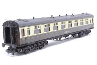 34-100-PO06 60ft. Collett 1st Class Corridor Coach 8095 in Great Western Chocolate & Cream Livery - Pre-owned - weathered- replacement box