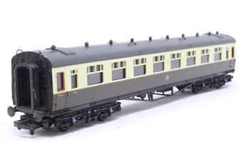34-101-PO03 Collett 60ft 1st coach in GWR Shirtbutton chocolate & cream - Pre-owned - slight mark to one corner of roof - label mark on box