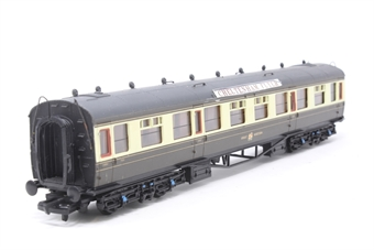 34-125-PO08 60ft. Collett 1st & 3rd Class Composite Coach 7001 in Great Western Chocolate & Cream Livery - Pre-owned - detailed with route boards - Minor marks on roof - Imperfect box