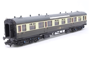 34-125B-PO02 60ft. Collett 1st & 3rd Class Composite Coach 7056 in Great Western Chocolate & Cream Livery - Pre-owned -  imperfect box