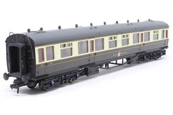 34-125C-PO GWR Collett composite coach in Hawksworth era chocolate/cream - Pre-owned - Like new