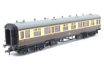 34-128-PO03 Collett 60ft 1st/3rd composite 7318 in GWR chocolate & cream - Pre-owned - imperfect box