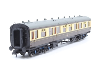 34-128-PO04 Collett 60ft 1st/3rd composite 7318 in GWR chocolate & cream - Pre-owned - Like new