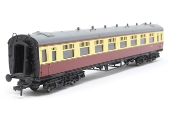 34-130-PO05 60ft. Collett 1st & 3rd Class Composite Coach W7021 in BR Crimson & Cream Livery - Pre-owned - Missing coupling hook - Missing ventilators - Replacement box £13