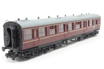 34-175-PO08 Collett 60' 2nd class brake coach W1657W in BR Maroon - Pre-owned - missing buffers and damage to underframe, replacement box