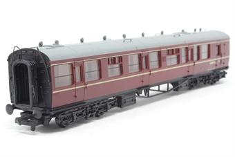 34-175-PO09 Collett 60' 2nd class brake coach W1657W in BR Maroon - Pre-owned - Like new