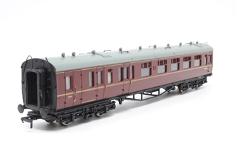 34-176-PO05 Collett 60ft 2nd brake corridor in BR maroon - Pre-owned - Like new
