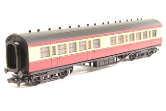 34-300-PO 57ft. Ex-LMS Panelled 1st & 3rd Class Composite Coach M3672M in BR Crimson & Cream Livery - Pre-owned - Like new