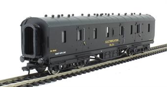 34-330 Period III 50ft parcels van DM395665 in BR departmental black 'Electrification'