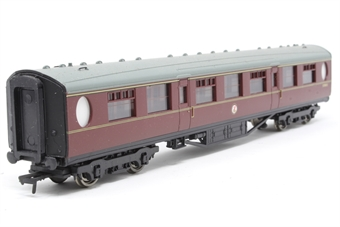 34-378-PO03 Thompson 2nd corridor coach in BR maroon with roundal logo - Pre-owned - Like new