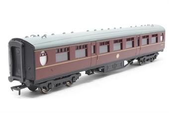 34-378A-PO11 Thompson 63ft 2nd class corridor in BR maroon - Pre-owned - Like new