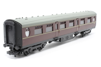 34-401-1-PO 59ft. 6in. Thompson Composite Coach E1240E in BR Maroon Livery - Pre-owned - missing coupling hook -  imperfect box