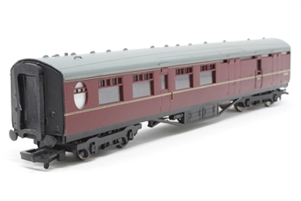 """34-451-PO08 Thompson Coach 63"""" Brake 2nd Maroon BR. - Pre-owned - repaired coupling - imperfect box"""