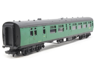 34-501-PO09 63ft. Bullied 2nd Class Corridor, Open, Brake Coach S3948S in BR 'Southern Region' Green Livery - Pre-owned - Like new
