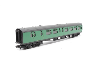 34-501-PO10 63ft. Bullied 2nd Class Corridor, Open, Brake Coach S3948S in BR 'Southern Region' Green Livery - Pre-owned - imperfect box
