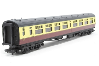 34-527-PO07 Bulleid 63ft corridor 2nd coach in BR crimson & cream - Pre-owned -  imperfect box