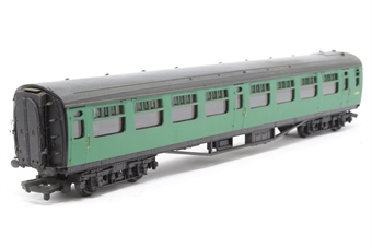 34-550-PO07 63ft. Bullied Composite Corridor Coach S5871S in BR 'Southern Region' Green Livery - Pre-owned - minor marks on bodywork
