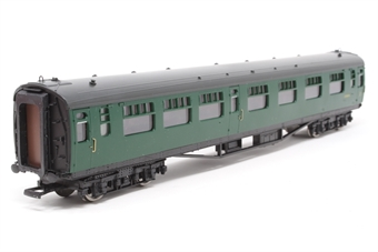 34-554A-PO05 Bulleid 63ft corridor 1st/2nd composite in BR(SR) green  - Pre-owned - Missing one coupling