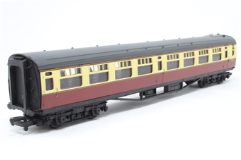 34-576-PO07 Bulleid 63ft open 2nd coach in BR crimson & cream - Pre-owned - Minor glue marks on ends, imperfect box