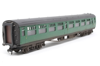 34-577-PO06 Bulleid 63ft open 2nd S1494S in BR(SR) green - Pre-owned - lightly weathered - replacement box