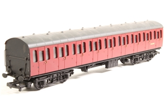 34-600-PO BR Standard Mk1 57ft suburban coach M46083 in crimson - Pre-owned - Paint chipping on one side, missing one buffer