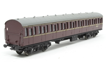 34-602-PO12 BR Standard 57' Suburban Coaches.BR Maroon All 2nd. - Pre-owned - Original coupling removed, drawbar coupling added to one end, imperfect box