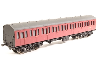 34-606-SD BR Standard Mk1 57ft suburban 2nd coach E46127 in crimson - Pre-owned - missing both couplings - incorrect box