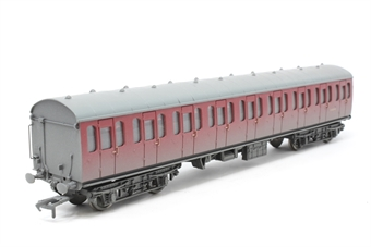 34-608-PO06 Mk1 Suburban 2nd open in BR crimson - weathered - Pre-owned - Like new