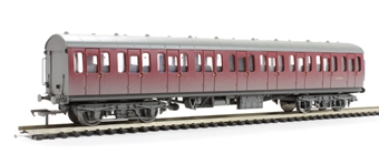 34-608 Mk1 Suburban 2nd open in BR crimson - weathered
