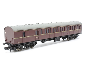 34-627-PO09 Std Mk1 57' suburban brake 2nd coach maroon (WR) - Pre-owned - Like new