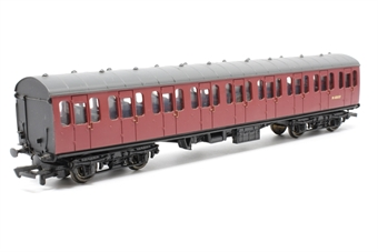 34-676-PO07 BR Standard Mk1 57ft suburban open 2nd coach in BR crimson (M48037) - Pre-owned - minor mark on roof - imperfect box