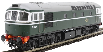 3417 Class 33/0 D6504 in BR green