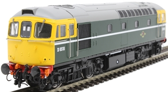 3418 Class 33/0 D6518 in BR green with full yellow ends