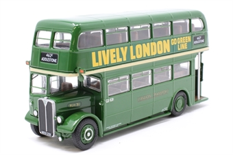 "34202-PO05 AEC RLH d/deck bus in Country Area Green ""London Transport"" - Pre-owned - Like new"