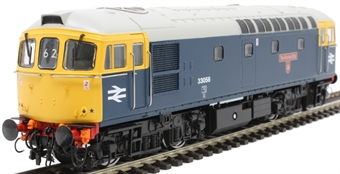 """3438 Class 33/0 33056 """"The Burma Star"""" in BR blue with grey roof"""