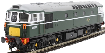 3446 Class 33/1 D6580 in BR green with small yellow ends