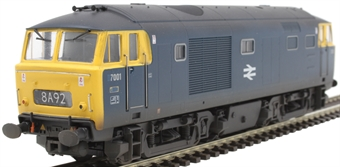 3529 Class 35 'Hymek' 7001 in BR blue - weathered