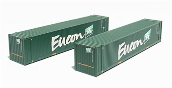 36-101 2 x 45ft Intermodal containers in Eucon livery