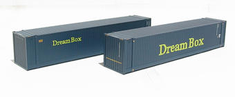 36-102 2 x 45ft Intermodal containers in Dream Box livery
