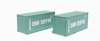 36-125 2 x 20ft Intermodal containers in China Shipping livery