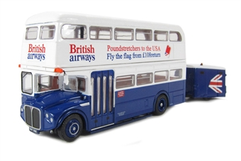 "36203 RMA Routemaster double decker bus & trailer ""British Airways"" £27"