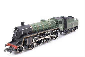 37-053MAIN-PO28 Class 4MT 4-6-0 75001 in BR Green - Pre-owned - sold as seen - non runner- broken running gear - imperfect box