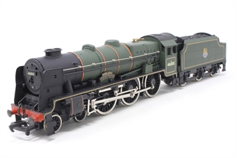 37-057MAIN-PO22 Class 6P Royal Scot 4-6-0 46100 'Royal Scot' in BR Green - Pre-owned - Slow runner, marks on footplate, imperfect box