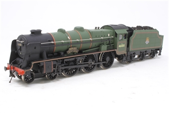 37-057MAIN-PO23 Class 6P Royal Scot 4-6-0 46100 'Royal Scot' in BR Green - Pre-owned - detailed - real coal in tender - imperfect box