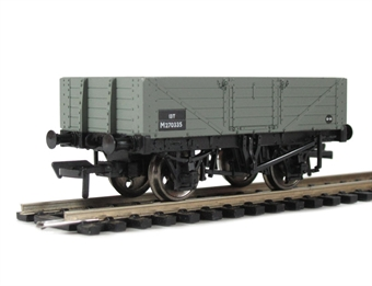 37-061B 5 Plank wagon with wooden floor BR Grey. £7