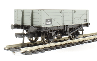 37-061C 5 plank wagon with wooden floor in BR grey